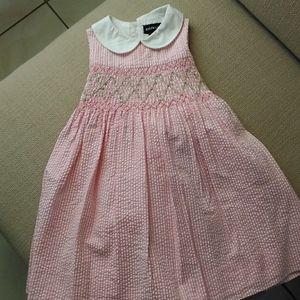 Ralph Lauren Seersucker Smocked Dress
